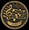 3D Music Medal 3-D Series Medal Awards