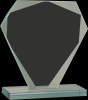 Cut Diamond Jade Glass Award Achievement Awards