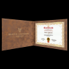 Rustic/Gold Leatherette Certificate Cover Certificate Holders