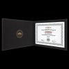 Black/Gold Leatherette Certificate Holder Certificate Holders