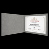 Gray Leatherette Certificate Holder Certificate Holders