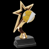 Gold Star Cheer Trophy Cheerleading Trophy Awards