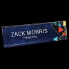 Artiste Acrylic Name Bar Desk Wedge Name Plates