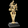 Double Action Soccer Trophy Figure on a Base Trophies