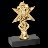 Football Sport Star Trophy Figure on a Base Trophies