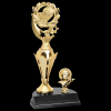 Basketball Wreath Trophy Figure on a Base Trophies
