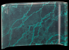Green Marbleized Acrylic Crescent Marble Acrylic Awards