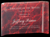 Red Marbleized Acrylic Crescents Marble Acrylic Awards