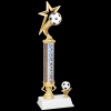 Gold Star Soccer Trophy Single Column Trophies