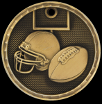3D Football Medal 3-D Series Medal Awards