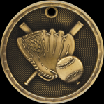 3D Baseball Medal 3-D Series Medal Awards