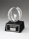 Chrome Plated Star in Aluminum Unisphere on Black Base Achievement Awards