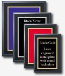 Black Finished Plaque with Custom Metal Plate Achievement Awards