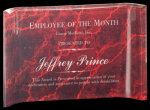 Red Marbleized Acrylic Crescents Achievement Awards