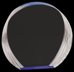 Blue Round Acrylic Achievement Awards
