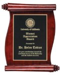Rosewood Piano Finish Scroll Plaque Achievement Awards