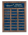 Recognition Pocket Perpetual Plaque with Blue Plates Achievement Awards
