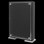Carbon Fiber Floating Stand-Up with Magnetic Standoffs Acrylic Plaques