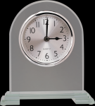 Arch Clear Glass Clock With Split Step Base Arch Awards