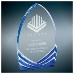 Blue Soaring Cathedral Acrylic Arch Awards