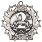 2nd Place Ten Star Medal Basketball Trophy Awards