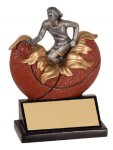 Female Basketball Explosion Resin Trophy Basketball Trophy Awards