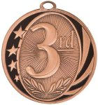 3rd Place MidNite Star Medal Basketball Trophy Awards