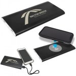 8000MAH Power Bank and Wireless Anodized Aluminum Charger -Black Boss Gift Awards