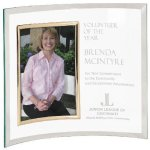 Crescent Glass Photo Frame Award Boss Gift Awards