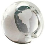 Crystal Globe Paperweight Boss Gift Awards