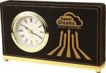 Black Leatherette Rectangle Desk Clock Boss Gift Awards