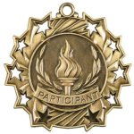 Participant Ten Star Medal Bowling Trophy Awards