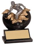 Male Bowling Explosion Resin Trophy Bowling Trophy Awards
