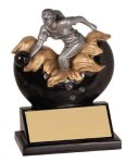 Female Bowling Explosion Resin Trophy Bowling Trophy Awards