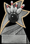 Bowling Jazz Star Resin Bowling Trophy Awards