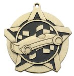 Pinewood Derby Super Star Medal  Gold Car/Automobile Trophy Awards