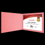 Pink Leatherette Certificate Holder Certificate Holders