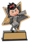 Female Cheer Little Pals Resin Trophy Cheerleading Trophy Awards