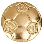 Gold Soccer Metal Chenille Letter Insignia Chenille Lapel Pins