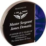 Blue Velvet Round Acrylic Circle Awards