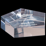 Crystal Pentagon Paperweight Clear Optical Crystal Awards