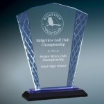 Blue Fan Accent Glass Cobalt Glass Awards