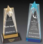 Sculpted Star Acrylic Award Colored Acrylic Awards