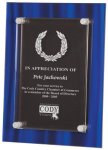 Blue Velvet Acrylic Plaque Award Colored Acrylic Awards
