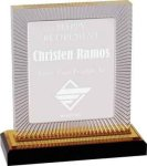 Gold Carved Rectangle Impress Acrylic Colored Acrylic Awards