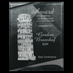 Black/Silver Apex Acrylic Plaque Colored Acrylic Awards