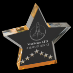Gold Star Performance Acrylic Colored Acrylic Awards
