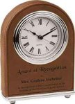 Dark Brown Arch Desk Clock Desk Clocks