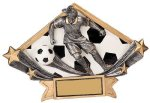 Female Soccer Diamond Star Plate Resin Trophy Diamond Plate Resin Trophies