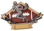 Football Diamond Star Plate Resin Trophy Diamond Plate Resin Trophies